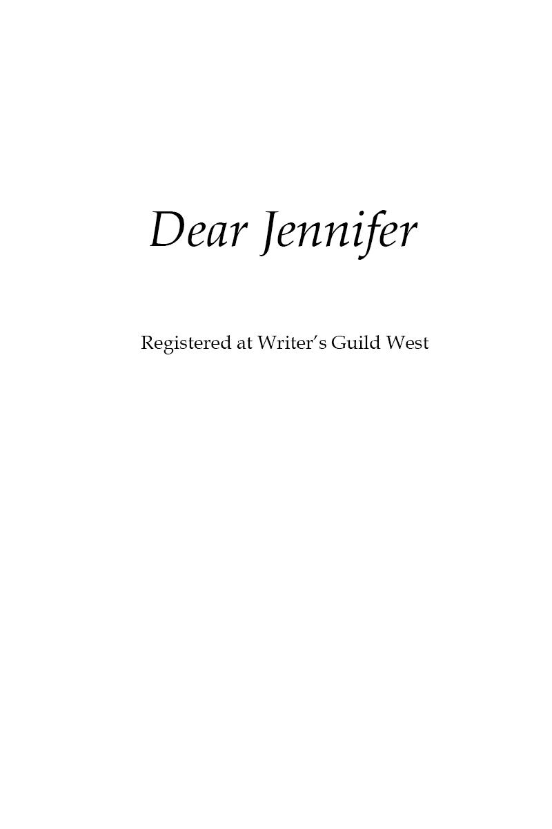 Dear Jennifer Title Page