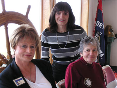 Rotary Speakers - Suzanne Adams & Karen Williams with Natalie Spiegel, Rotary Secretary